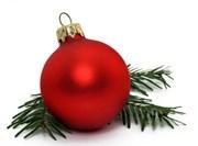 Weihnachtskugel links
