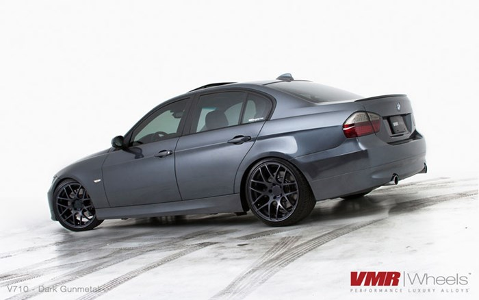 VMR Wheels 19 Gunmetal V710 On Sparkling Graphite BMW E90 335I Sedan