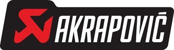 Akrapovic Logo 2007 Aflangt Sort Roed Hvid