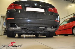 BMW F10 550I Blackexhaust Before06