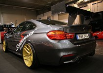 BMW F82 M4 At Essen Motorshow Gold Rims 03