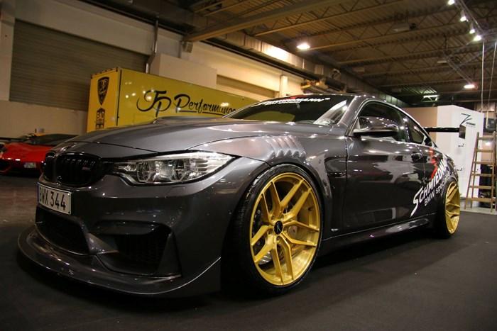 BMW F82 M4 At Essen Motorshow Gold Rims 02