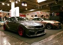 BMW F82 M4 At Essen Motorshow Candy Red Rims 02