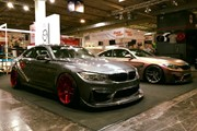 BMW F82 M4 At Essen Motorshow Candy Red Rims 02