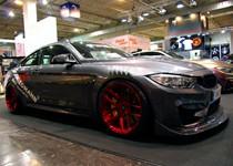 BMW F82 M4 At Essen Motorshow Candy Red Rims 01