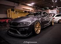 BMW F82 M4 At Essen Motorshow Gold Rims 01
