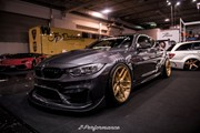 BMW F82 M4 At Essen Motorshow Gold Rims 01
