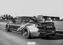 BMW F82 M4 On Track Black White