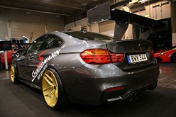 BMW F82 M4 At Essen Motorshow Gold Rims 03