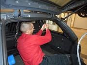 BMW E61trunk Wiring Repair 05
