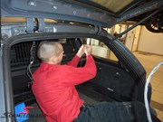 BMW E61trunk Wiring Repair 05