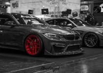 BMW F82 M4 At Essen Motorshow Candy Red Rims 04