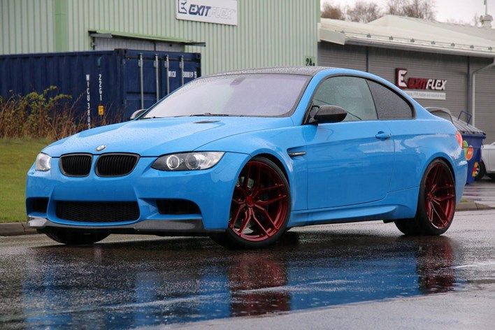BMW M3 E92 Med 20 Z Performance ZP2 1 Candy Red Schmiedmann Sverige
