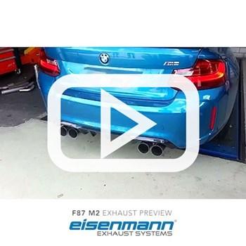 Eisenmann BMW F87 M2 Exhaust Preview Video