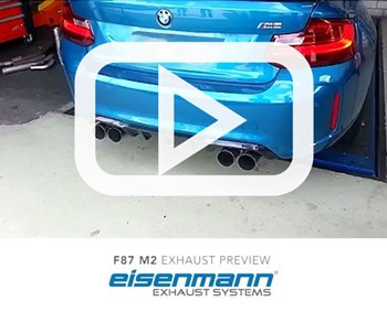 Eisenmann BMW F87 M2 Exhaust Preview Video