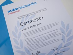 Automechanika 2016 Certificat