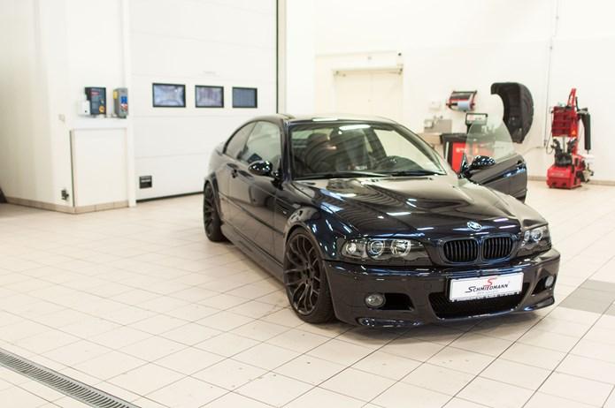 BMW E46 M3 Faar Schmiedmann Exclusive Maatter Paa Vaerkstedet I Odense 3