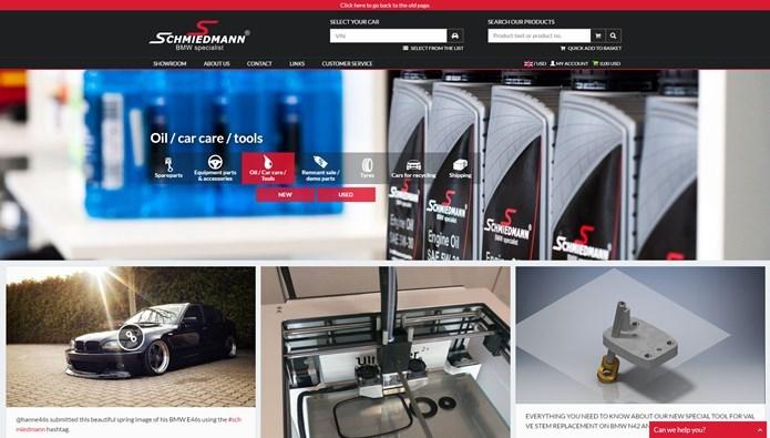 Ny Hjemmeside Main Bmw Webshop Online Schmiedmann