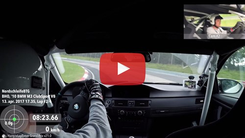 BMW M3 E92 Track Race Technology Dash Camera Video Nurburgring