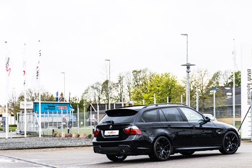 BMW E91 335D All Black Tuning Styling Schmiedmann 1 2 Med Nummerplade