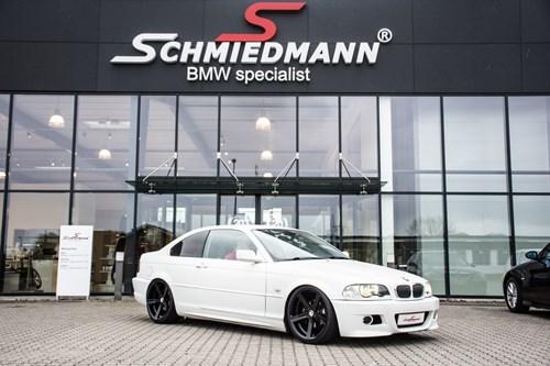 BMW E46 323CI Coupe Supersprint M3 Udstoedning M Technic Bagkofanger 22 M SCHMIEDMANN PLADE