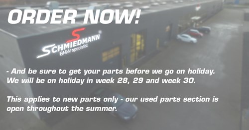 HOLIDAY NOTICE SCHMIEDMANN BMW SPECIALIST