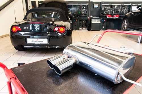 BMW Z4 30 Exhaust Schmiedmann Beforeafter 4