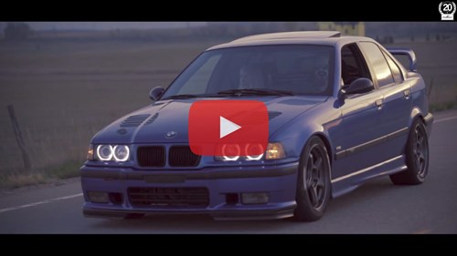 BMW E36 M3 Sushi Med Playbutton