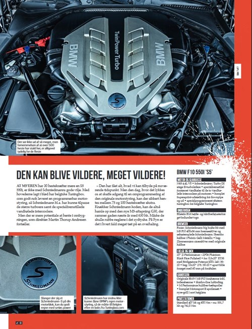 Schmiedmann BMW S5 F10 550I Boosted Article S4