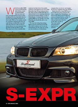 Schmiedmann BMW S3 E90 335I Performance BMW Article S1
