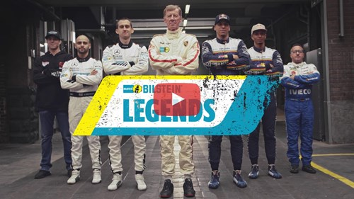 Bilstein Legends Video Thumbnail Play Button