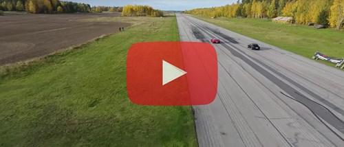 Chevrolet Corvette Z06 C7 Vs BMW 325I E30 Turbo View From Drone Plus Corvette