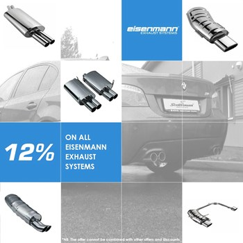 10% discount on all Eisenmann exhaust systems