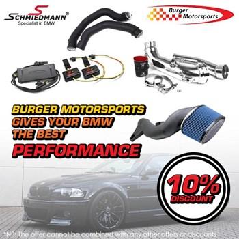 Schmiedmann 10% Burger Motorsports tuning parts