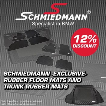 schmiedmann offer 12% rubber floor mats and trunk mats