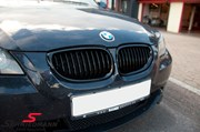Bmw E61lci Bmw High Gloss Black Kidney Grilles 01