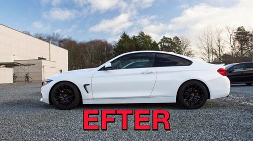 Schmiedmann BMW F32 LCI 420I Eibach Lowering EFTER