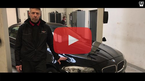 Schmiedmann Nordborg BMW F10 530D Workshop Video Thumbnail Playbutton