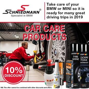 Schmiedmann offer 10% car care products