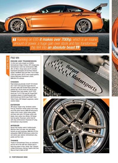 Schmiedmann Sweden BMW M4 F82 Performance BMW Mafgazine Apex Predator Page 3