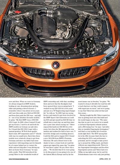 Schmiedmann Sweden BMW M4 F82 Performance BMW Mafgazine Apex Predator Page 4