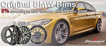 Schmiedmann 5% original BMW rims