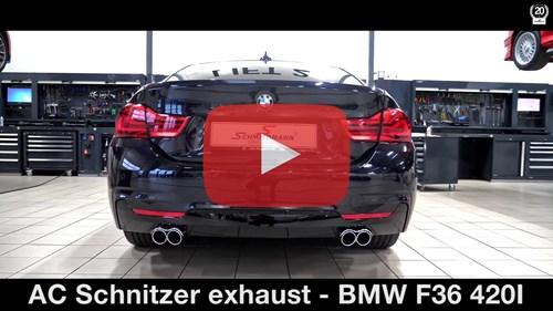 Schmiedmann BMW F36 420I AC Schnitzer Sport Exhaust Vide Thumbnail Playbutton