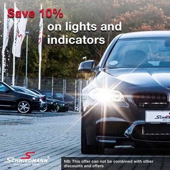 Schmiedmann offer 10% lights and indicators