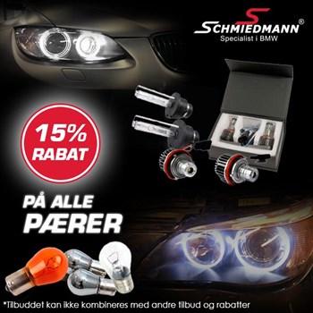 Schmiedmann tilbud 15% på alle pærer