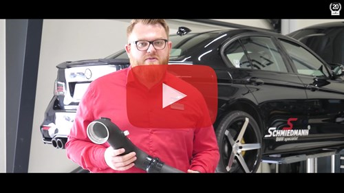 Schmiedmann BMW F30 S3 335I Burger Motorsports Chargepipe Video Thumbnail Playbutton