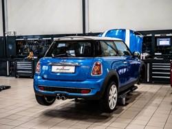 Blue MINI Cooper S Trunk Back