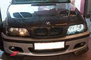 Bmw E46 Carbon Styling Fenders With Grills Angel Eyes 04