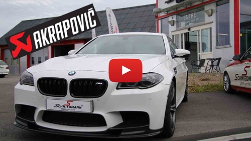 BMW M5 F10 Akrapovic Exhaust Install And Sound Yt Knap