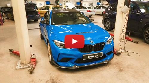 YT Knap BMW M2 CS Installation Wiechers Clubsport Roll Bar
